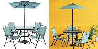 Folding Patio Dining Table Target 7pc Sling Folding Patio Dining Set Only 99 Store Pick Up
