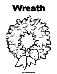 colouring pages christmas wreath christmas wreath coloring pages