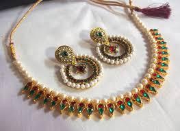 colored necklace set images Multi colored polki kundan and pearl necklace set eonshoppee jpg