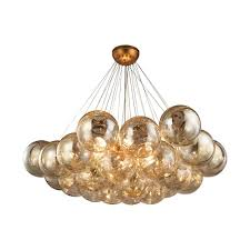 Orb Light Fixture by Cielo 6 Light Antique Gold Leaf Chandelier Tn 999699 The Home Depot