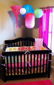 Bright Crib Bedding Quilt Inspired Baby Nursery Design With Colorful Lanterns