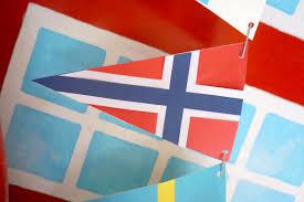 Scandanavian Flags Scandinavian Flag Garland Papermatrix