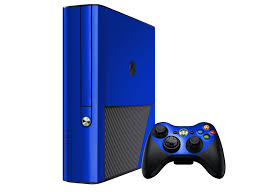xbox e console blue chrome microsoft xbox 360 3rd gaming console skin decal