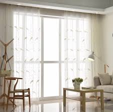 Curtains Ideas Inspiration Amazing Bird Pattern Embroidery Curtains Tulle For Bedroom The Of