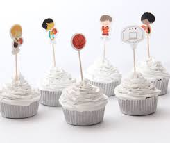 basketball cake toppers cupcake toppers the sparkling pantry