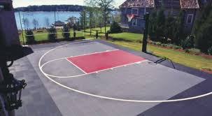 Backyard Sport Court Cost do it yourself suspended surface basketball court kits by playmaker