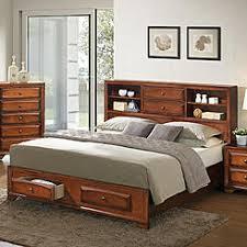 oak queen platform bed with drawers