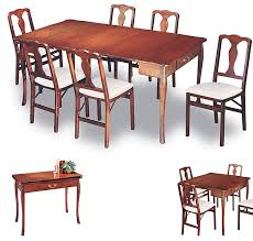 collapsing dining table goliath table 2 0 pull out folding table for small spaces