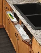 Kitchen Cabinet Sink Tip Out Tray Sponge Holder Double Hinges