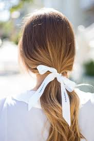 ribbon ponytail simple ponytail hair ponytail beauty finishing touches