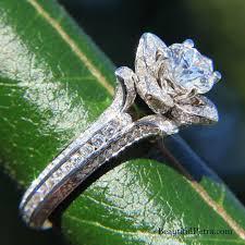 engagement rose rings images Gorgeous unique flower rose diamond engagement ring egl jpg