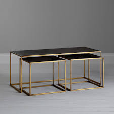 buy content by terence conran coffee black enamel table and 2 side