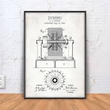 dynamo poster dynamo patent print dynamo blueprint