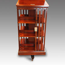 edwardian inlaid 3 tier revolving bookcase sold hingstons