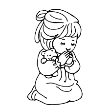 children praying coloring page clipart panda free clipart images