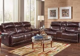 charleston leather sofa charleston burgundy power reclining sofa u0026 loveseat badcock home