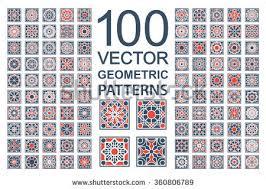 patterns geometric ornaments vector set arabic stock vector