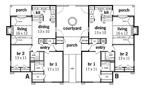 home blueprints henderson place duplex home plan 020d 0025 house plans and more