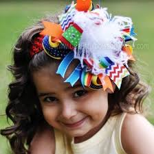 baby girl headbands and bows buy primary rainbow chevron colors the top hair bow or baby