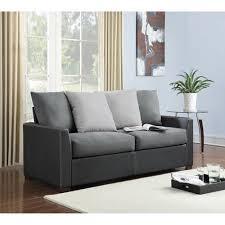Cheap Sofas In Bristol Dorel Living Bristol Black Faux Leather Sofa Black Walmart Com