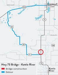 Minnesota On Map Hwy 73 Bridge Project Mndot