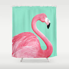 Flamingo Shower Curtains Pink Flamingo Shower Curtain By Lorrileighart Society6