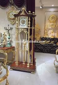 Dolphin Home Decor Gorgeous Gilt Brass Grandfather Clock With 24k Gold Plated Ornate