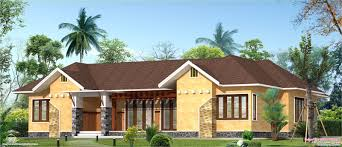 brick home designs eco friendly single floor kerala villa kerala home design and