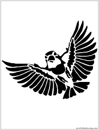 25 bird stencil ideas bird silhouette free
