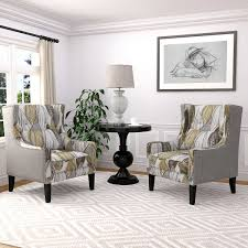 Grey Patterned Accent Chair Chairs Costco