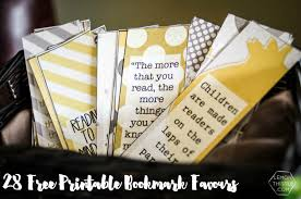 bookmark favors book baby shower bookmark favours free printable lemon thistle