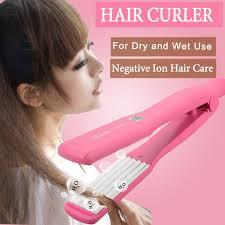 Bed Hair Waver Elegiant Hair Curler Dry Wet Hair Crimper Crimping Wave Waver