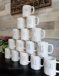 rae dunn mug rae dunn inspired christmas ornaments diy beautify