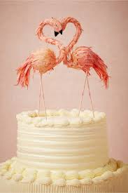 in cake toppers flaming flamingo cake topper in décor gifts bhldn
