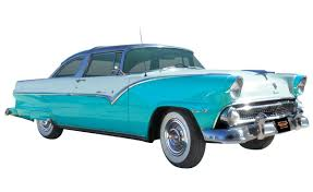 2 Tone Paint Automobile 1955 Ford Crown Victoria Classic Glass Top Two Tone
