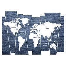 wallpops denim world map wall decal wayfair denim world map wall decal