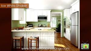 kitchen cabinet kings ice white shaker kitchen cabinets by kitchen cabinet kings youtube