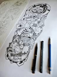 female thigh tattoo designs alice in wonderland tattoo sleeve by er69ck deviantart com on