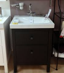 ikea kitchen cabinets in bathroom vessel sink vanity slim for