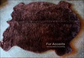 amazon com fur accents premium faux fur traditional buffalo pelt