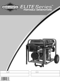 briggs u0026 stratton portable generator 030210 2 user guide