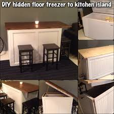 Space Saving Kitchen Islands Kitchen Island Floor Freezer This Is A Fun Diy Project I Started