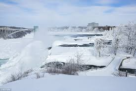 niagara falls frozen extreme winter weather continues