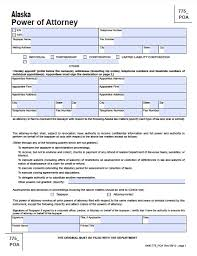 Medical And Financial Power Of Attorney Forms by Alaska General Financial Power Of Attorney Form Power Of