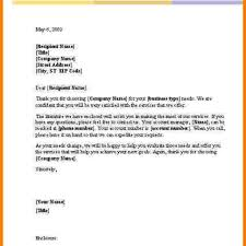 Letter Template Business 4 Business Letter Template Word Receipt Templates Throughout