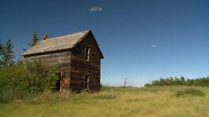 old farm house in badly deteriorated condition stock footage video