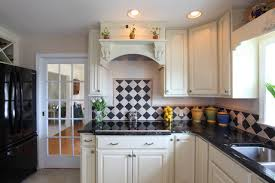 White Backsplash Kitchen Amazing 60 Black And White Tile Backsplash Design Decoration Of