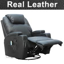 real leather swivel recliner chairs cinemo 9 in 1 leather recliner chair review gamerchairs uk