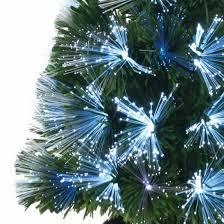 fibre optic tree with white and multi coloured leds 60cm