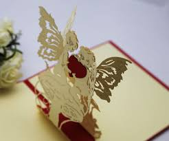 angel heart girlfriend birthday gift ideas paper edge lines carved